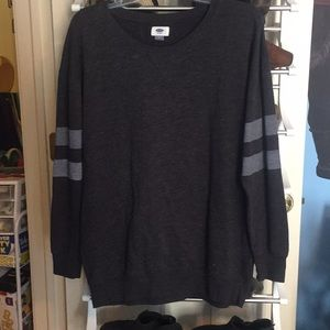Oversized Old Navy gray crewneck